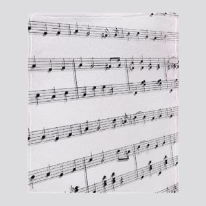 sheet music Throw Blanket