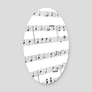 sheet music Oval Car Magnet