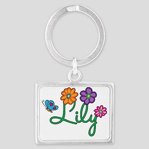Lily Landscape Keychain