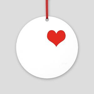 I love Matures Round Ornament