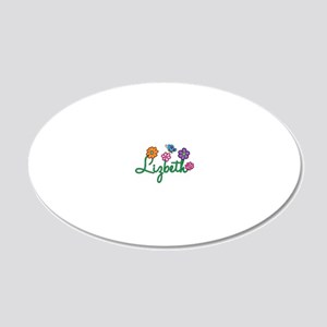 Lizbeth 20x12 Oval Wall Decal