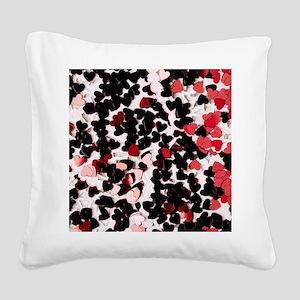 valentines Square Canvas Pillow