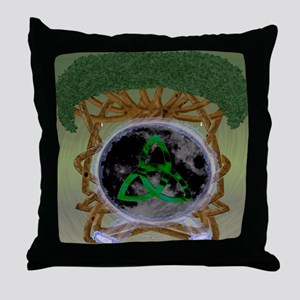 Tree of Life Moon Throw Pillow