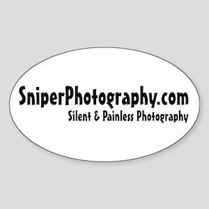SniperPhotography.com Oval Sticker