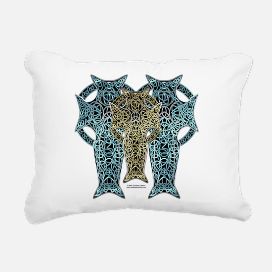 Trinity Celt Cross Rectangular Canvas Pillow