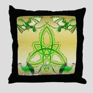 Double Triquetra Throw Pillow