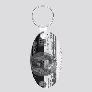 The world is yours  Aluminum Oval Keychain