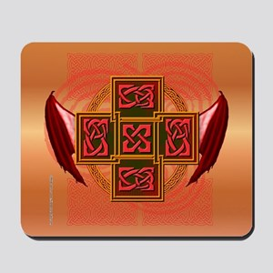 Winged Celt Cross Mousepad
