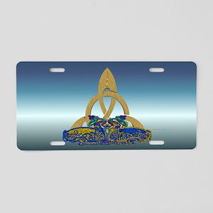 Celt Stone Cats Aluminum License Plate
