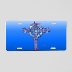 Celt Cross Aluminum License Plate