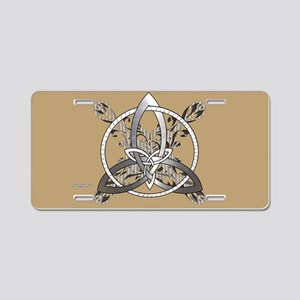 Silver Infinity Knot Aluminum License Plate