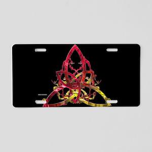 Triquetra Splatter Aluminum License Plate