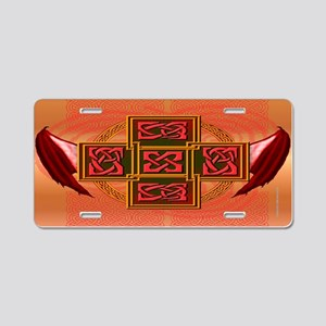 Winged Celt Cross Aluminum License Plate