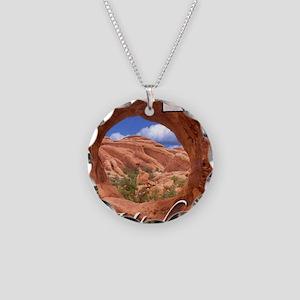 UtahMap28 Necklace Circle Charm