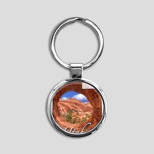 UtahMap28 Round Keychain