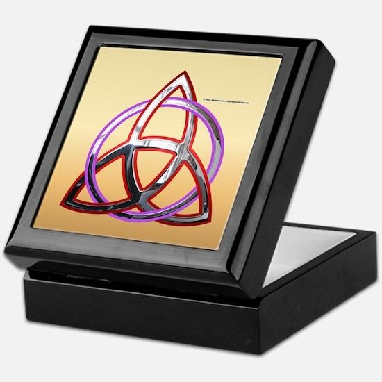 Metallic Triquetra Keepsake Box