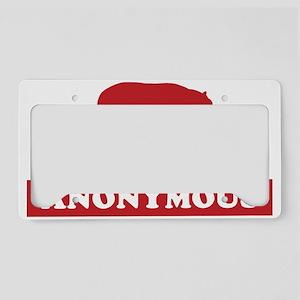 hiphopanonwhite License Plate Holder