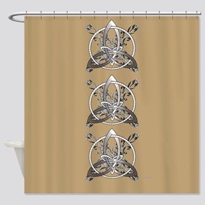 Silver Infinity Knot Shower Curtain
