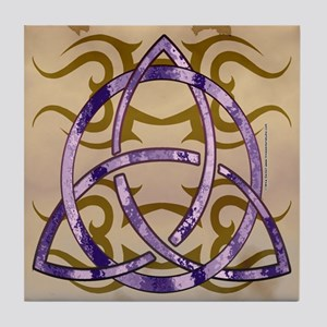 Marbled Triquetra Tile Coaster