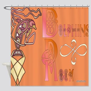 Celtic Dolphins Shower Curtain