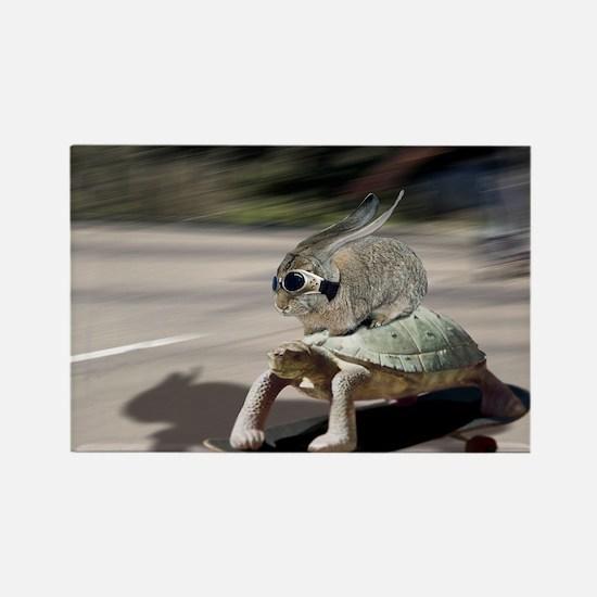 rabbit tortoise mousemat Rectangle Magnet