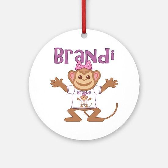 brandi-g-monkey Round Ornament