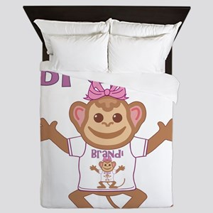 brandi-g-monkey Queen Duvet