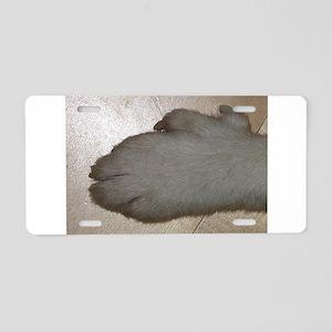 norwegian lundehund paw Aluminum License Plate
