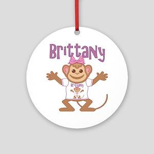 brittany-g-monkey Round Ornament