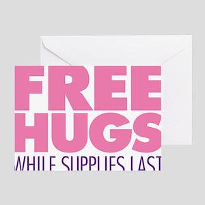 Free Hugs Pink Greeting Card