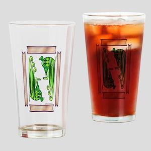 Celt Peacocks Drinking Glass