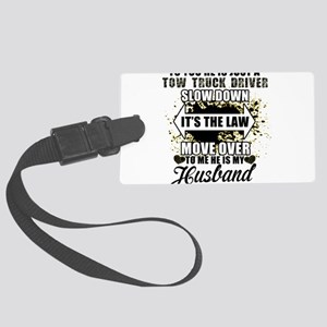 TRUCKER WIFE Large Luggage Tag