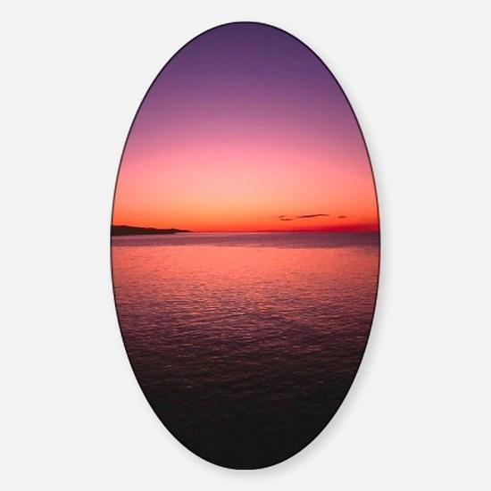 sunset4 Sticker (Oval)