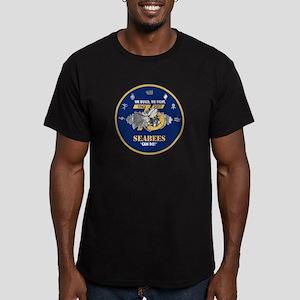 U.S. Navy Seabees 75th Men's Fitted T-Shirt (dark)