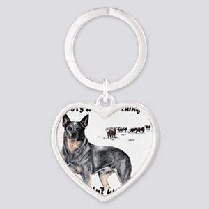Its A Heeler Thing.... Heart Keychain