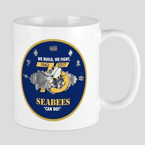 U.S. Navy Seabees 75th Anniversa 11 oz Ceramic Mug