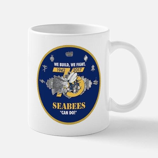 U.S. Navy Seabees 75th Anniversa Mug