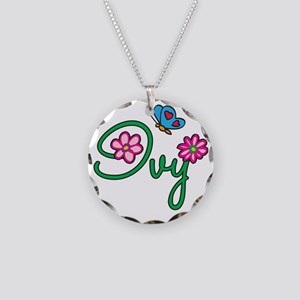 Ivy Necklace Circle Charm