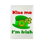 Kiss Me I'm Irish Hat ver2 Rectangle Magnet (100