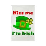 Kiss Me I'm Irish Hat ver2 Rectangle Magnet (10 p