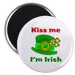 Kiss Me I'm Irish Hat ver2 Magnet