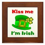 Kiss Me I'm Irish Hat ver2 Framed Tile