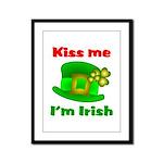 Kiss Me I'm Irish Hat ver2  Framed Panel Print