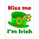 Kiss Me I'm Irish Hat ver2 Small Poster