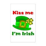 Kiss Me I'm Irish Hat ver2  Mini Poster Print