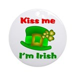 Kiss Me I'm Irish Hat ver2 Ornament (Round)