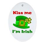 Kiss Me I'm Irish Hat ver2 Oval Ornament