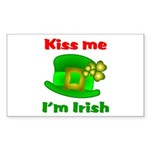 Kiss Me I'm Irish Hat ver2 Rectangle Sticker