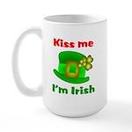 Kiss Me I'm Irish Hat ver2 Large Mug