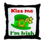 Kiss Me I'm Irish Hat ver2  Throw Pillow